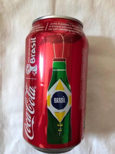 Lata Coca Cola Brasil Juegos Olimpicos