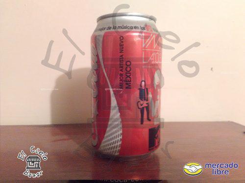 Lata Coca Cola Mtv Vma 03 Mexicana Llena