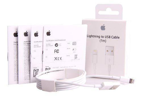 Lote De 10 Cables Usb Originales 1metro Para Iphone 5,5s,6,7