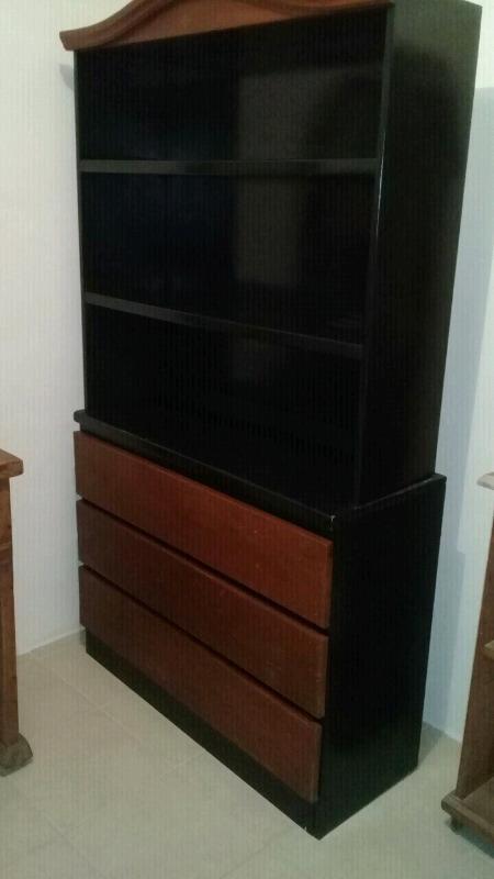 Mueble tipo americano de 2 piezas con 3 cajones