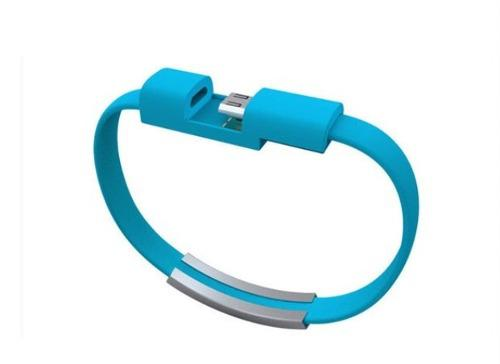 Pulsera Cable Cargador Iphone Android Micro Usb Datos