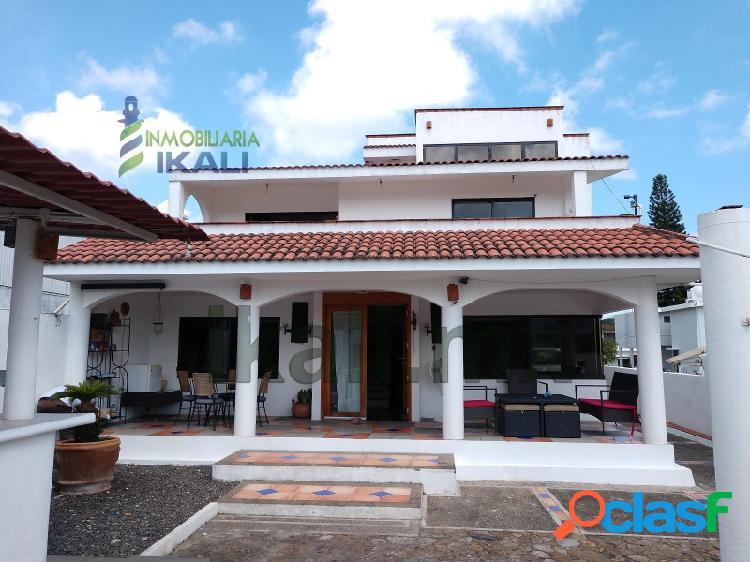 Renta Casa 3 recamaras frente al río Tuxpan Veracruz, La