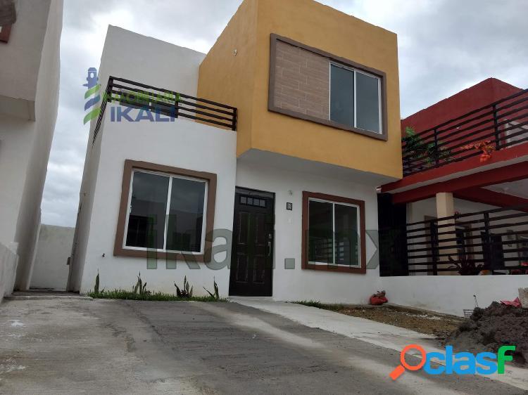 Renta Casa nueva 3 Recamaras Valle Alto Tuxpan Veracruz,