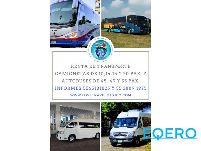 ***Renta de Camionetas y Autobuses de Turismo***