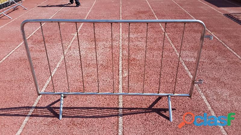 Renta de vallas de acero