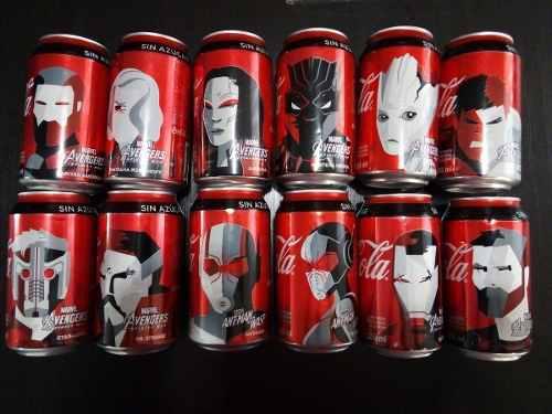 Set Completo 12 Coca Cola Avengers Y Ant Man Marvel