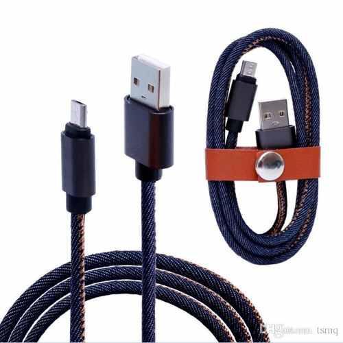 Sonolife Cable Carga Usb Micro Usb Mezclilla Carga Rápida