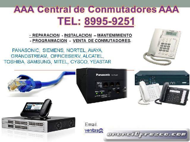 VENTA DE CONMUTADORES TELEFONICO: Panasonic, Avaya, Siemens,