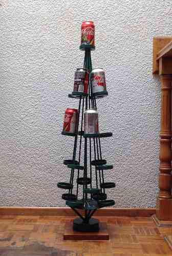 rbol De Navidad Para Latas De Coca-cola / Hecho De Metal