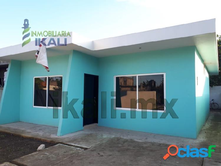 vende casa nueva 2 recamaras Col.Salinas de Gortari Tuxpan