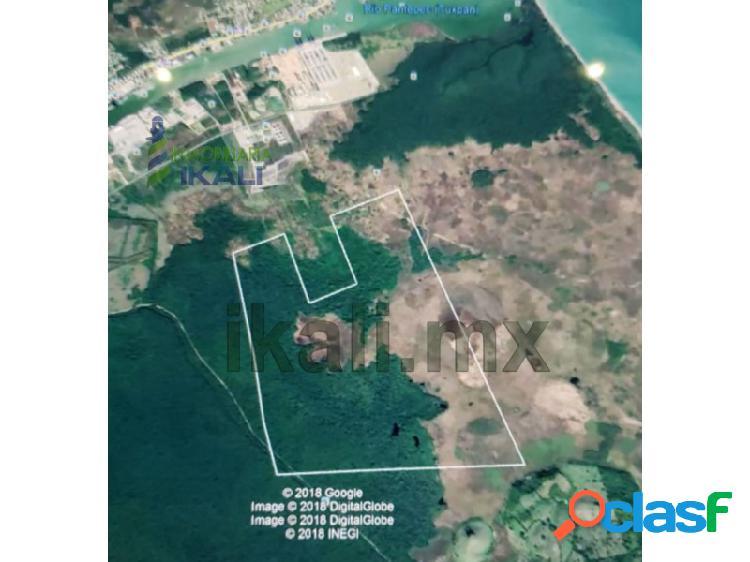 venta de 358 hectáreas en la zona industrial de Tuxpan