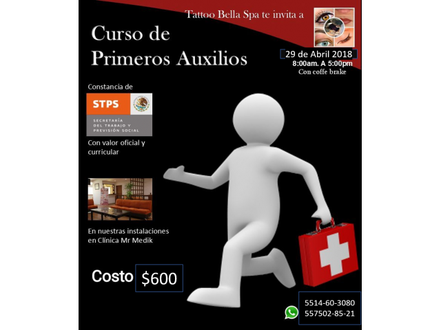 CURSO DE PRIMEROS AUXILIOS CON VALIDEZ OFICIAL