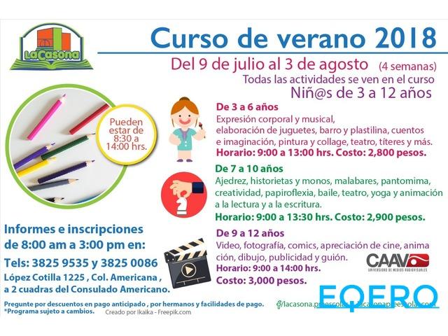 CURSO DE VERANO  PARA NIÑOS DE 3 A 6, DE 7 A 10 Y DE 9