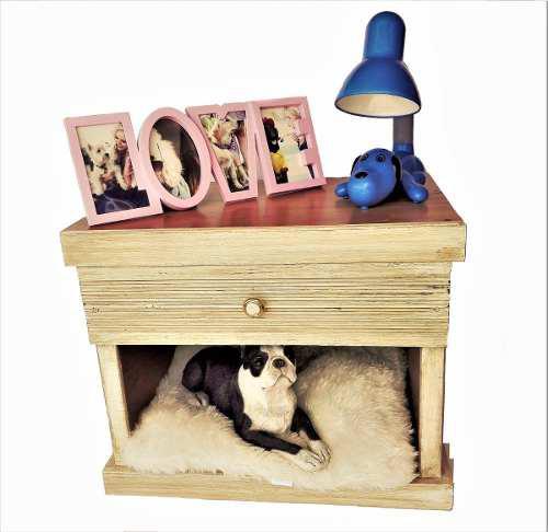 Casa De Perro Para Recamara Tipo Buro De Madera