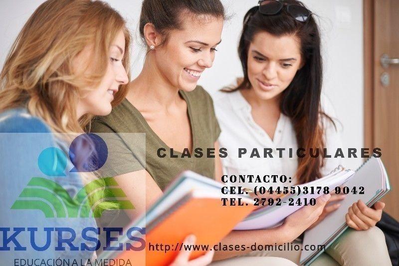 Clases particulares a domicilio y cursos de admisión