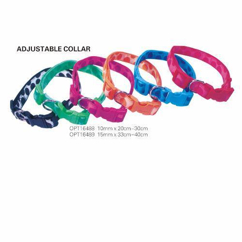 Collar Mascota Ajustable 15mm X 40cm 5 Pzas Opt16489