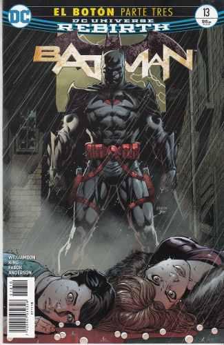 Comic Dc Universe Rebirth Batman # 13 Boton Parte 3