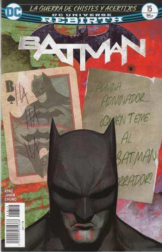 Comic Dc Universe Rebirth Batman # 15 Guerra De Chistes