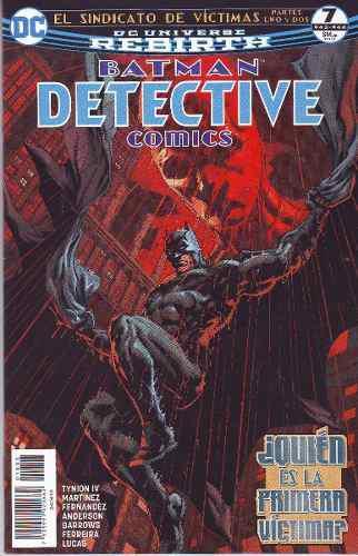 Comic Dc Universo Rebirth Batman Detective Comics # 7