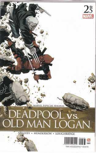 Comic Deadpool Vs Old Man Logan Tomo 2 Carton Y Bolsita