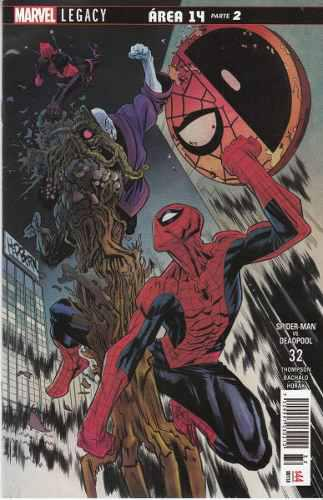 Comic Marvel Legacy Spiderman Deadpool # 32 Area 14 Parte 2