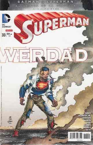 Comic Superman New 52 # 33 Carton Bolsa 56 Paginas Televisa