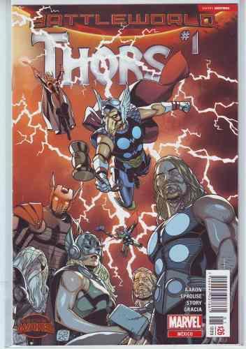 Comic Thors Battleworld Saga 4 Tomos Completa Secret Wars