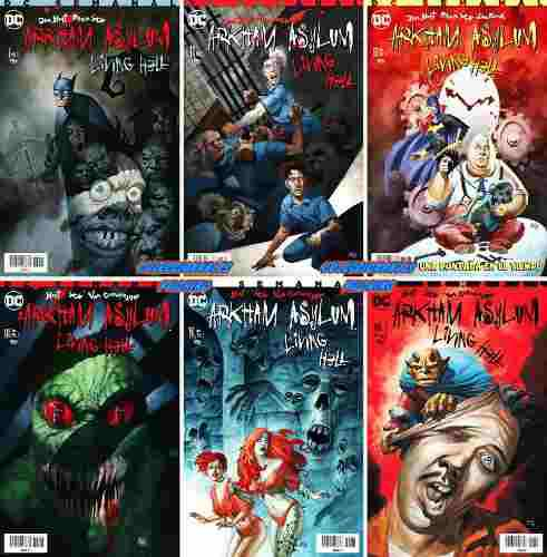 Dc Comics Batman Arkham Asylum Living Hell Completa 1 2 3 4