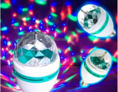 Foco Lampara Disco Led Rgb Giratorio Estrobo Fiesta Rave Bar