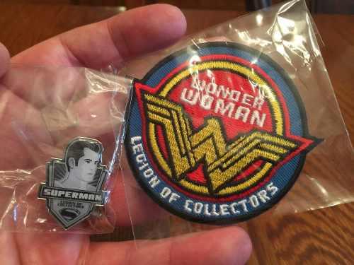 Funko Pin Superman Y Parche Wonder Woman Legion Of Collector