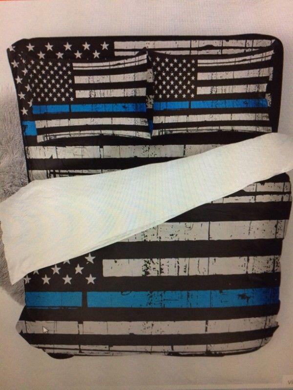 """Juego de cama matrimonial bandera americana """"TRUMP"""", nuevas."""