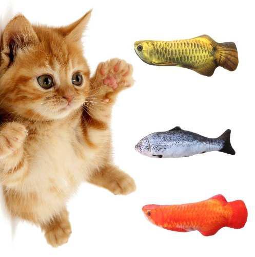 Juguete En Forma De Pez Para Gato Con Hierba Para Gato