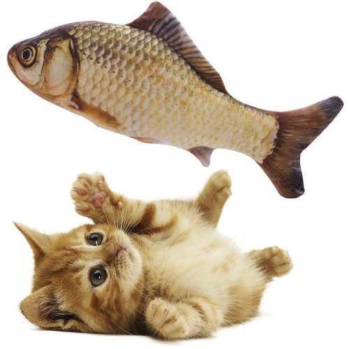 Juguete Para Gato En Forma De Pescado Realista 30cm Q1019