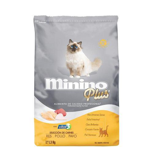 Minino Plus Alimento Para Gato Bulto 1.3 Kg