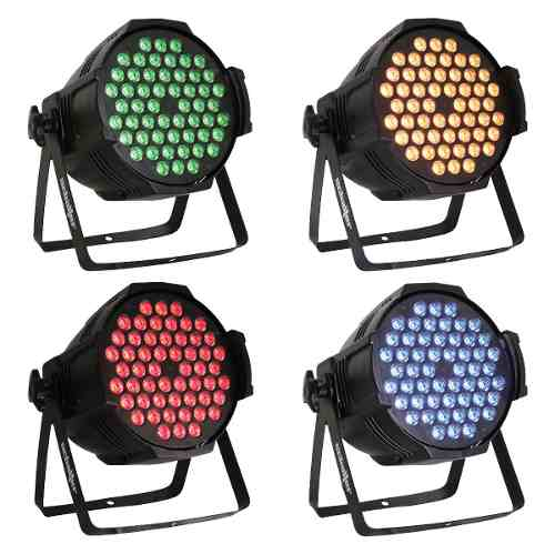Par Led Color 54x5w Luz Disco Caño Led Alta 4 Pz