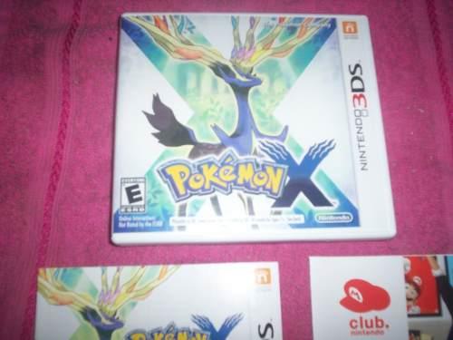Pokemon X Nintendo 3ds New 2ds Xl Completo Caja Y Manuales