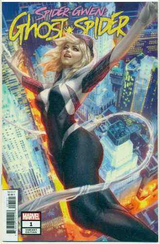 Spider Gwen Ghost Spider 1 Marvel Comics Artgerm Ingles