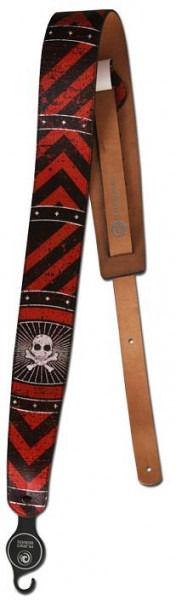 Tahalí de piel Planet Waves Stoned Leather Blood Stripes