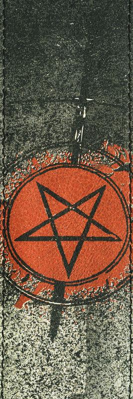 Tahalí de piel Planet Waves Stoned Leather The Pentagle