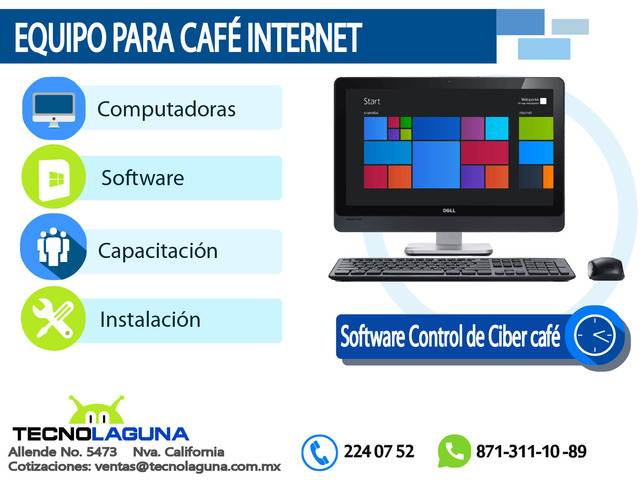 VENTA DE EQUIPO PARA CAFÉ INTERNET