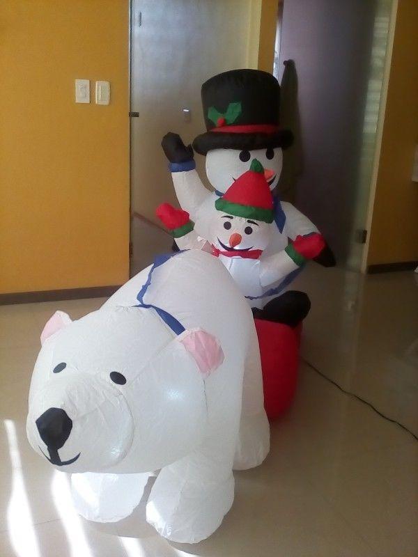 Vendo muñecos inflables navideños