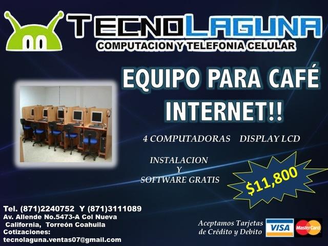 Venta De Equipo Para Café Internet!