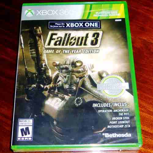 Videojuego Fallout 3 Game Of The Year Edition Xbox 360 Nuevo