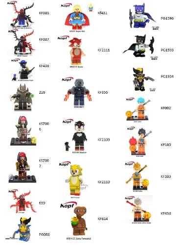 20 Figuras Compatibles Con Lego Marvel Dc Y Más +200