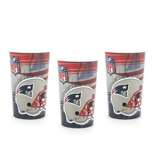 3 Vasos Colección Nfl Patriotas New England Patriots