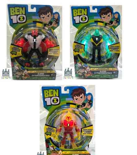 Ben 10 Set De 3 Figuras Luz Y Sonidos