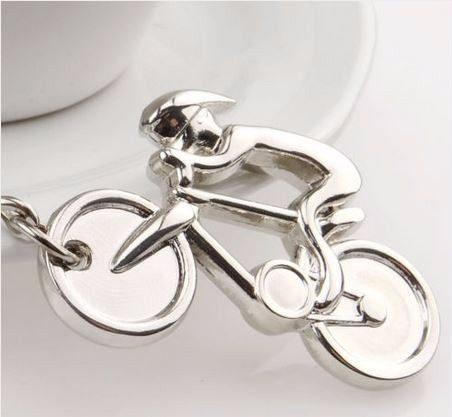 Ciclista Bicicleta Fino Y Elegante Llavero Metálico 1081
