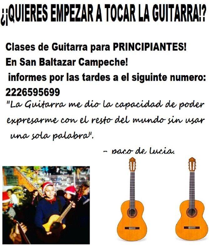 Clases de Guitarra en Puebla!