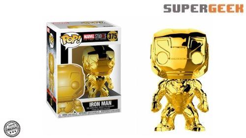 Funko Pop Marvel Iron Man Cromado Gold Dorado (1)