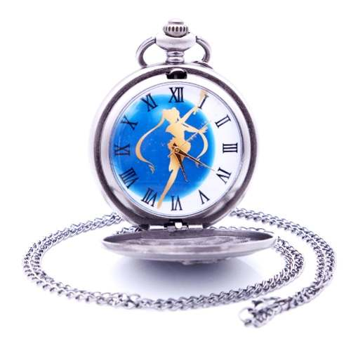 Genial Y Elegante Reloj De Bolsillo Sailor Moon Pocket Watch